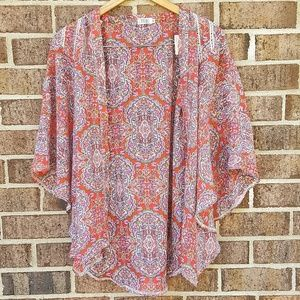 Tobi Colorful Kimono Indian Arabian Printed Flowy